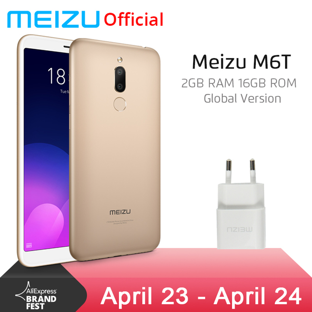 "Official Global Version Meizu M6T 2GB 16GB Mobile Phone Octa Core 5.7"" 18:9 Full Screen Dual Rear Camera 3300mAh Fingerprint ID"