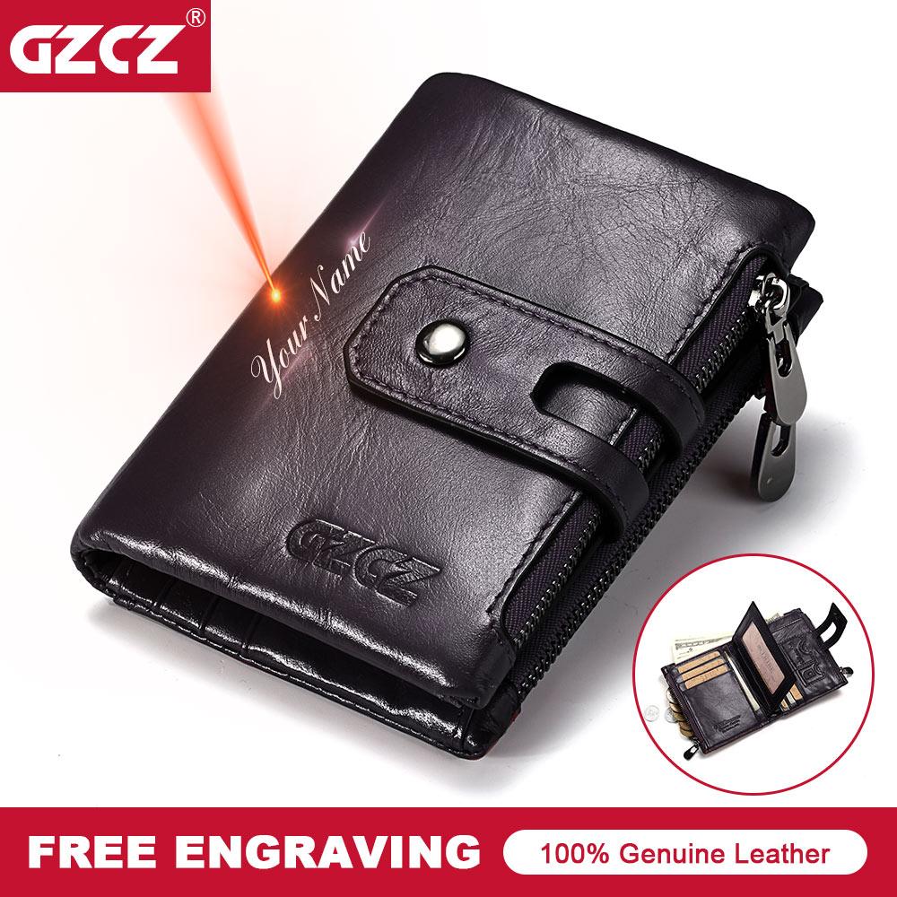 GZCZ 2018 Genuine Leather Woman Wallet Fashion Small WomenS Purses Zipper Poucht Coin Pocket Lady Wallet Portomonee Money Bag