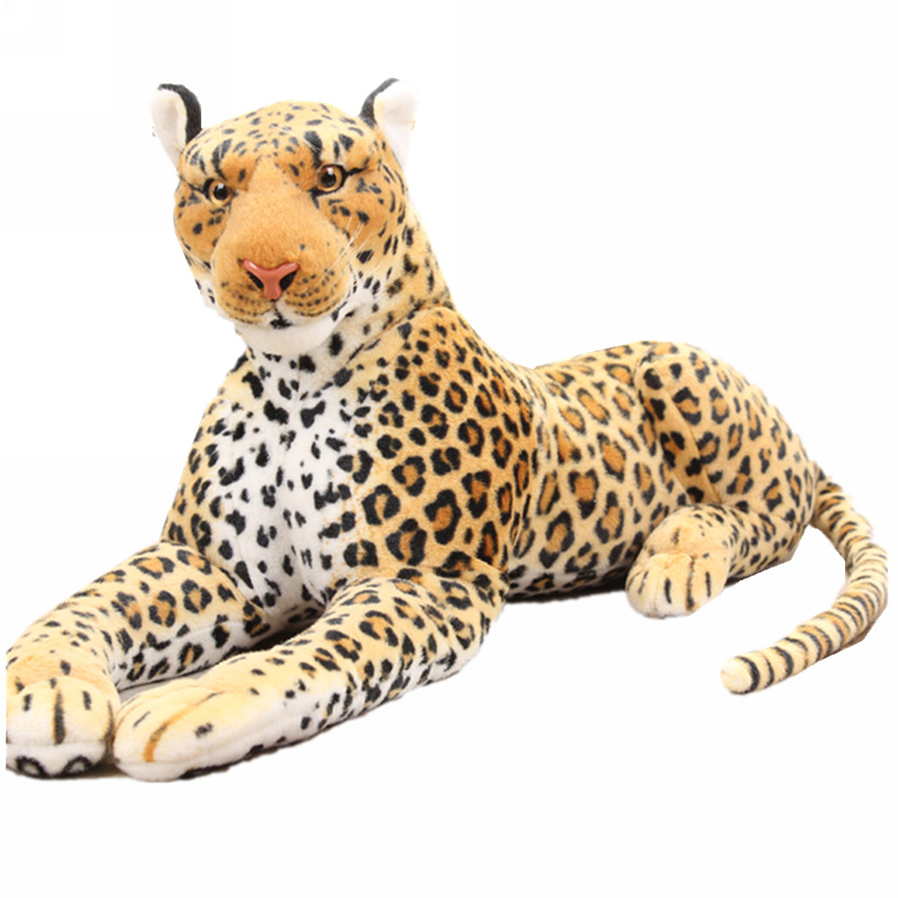 Fancytrader 51'' Giant Simulation Leopard Plush Toy Large Simulated Stuffed Panther Great Gift for Kids 2 Models