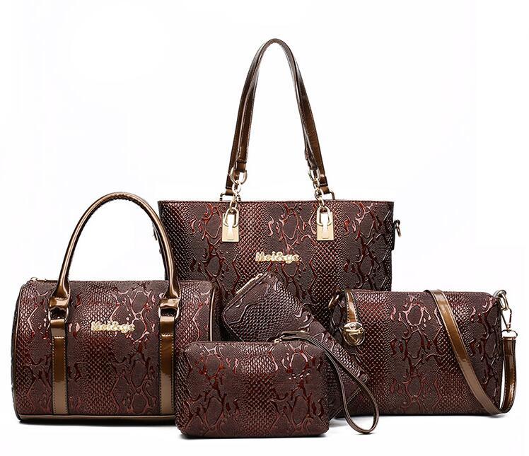 0319292849cf Для женщин кожаная сумка композитный Сумки 6 Наборы для ухода за кожей  женская дизайнерская Сумки известных брендов мешок для женские классические  сумка ...