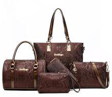 Women Leather Handbag Messenger Composite Bags 6 Sets Ladies Designer Handbags Famous Brands Fashion Bag For Female Classic Bag