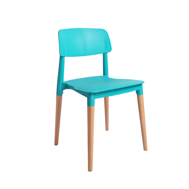 Teal Computer Chair Portable Pedicure Stylish Simplicity Creative Office Modern Lounge Plastic Chairs Cheap Wood Leg
