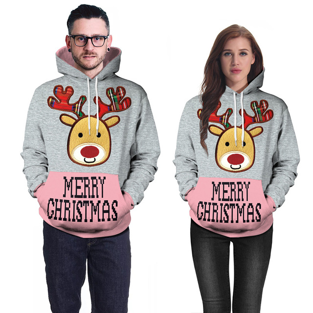 Cartoon Christmas Deer Sweatshirts Men 2018 3D Hoodies Men Women Funny Casual  Streetwear Anime Hoodies Sweat Homme Hip Hop Tops 0ad9b645aa30