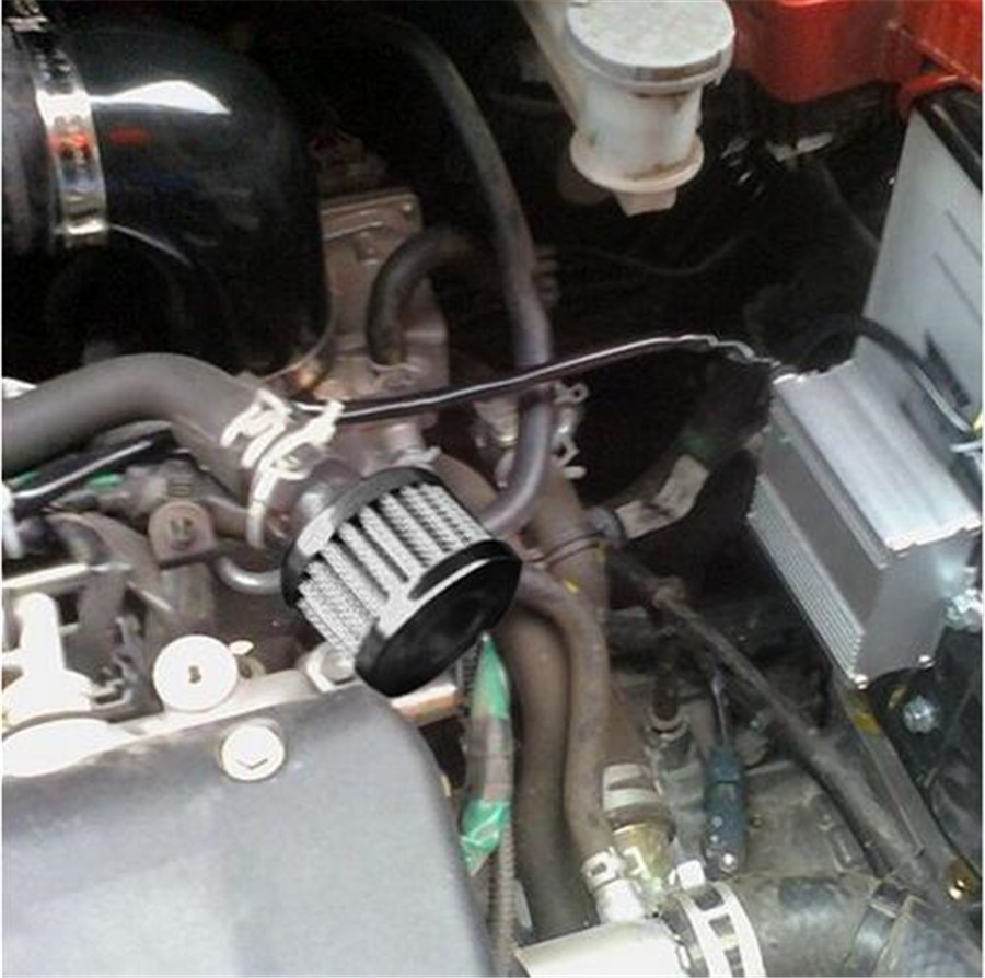 Mini Air Oil Crankcase Vent Breather Filter 12mm BLUE