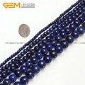 Granos Para La Joyería Que Hace Ronda Lapis Lazuli Teñido de Color de 2-20mm 15 pulgadas DIY Collar de la Joyería Al Por Mayor FreeShipping joya