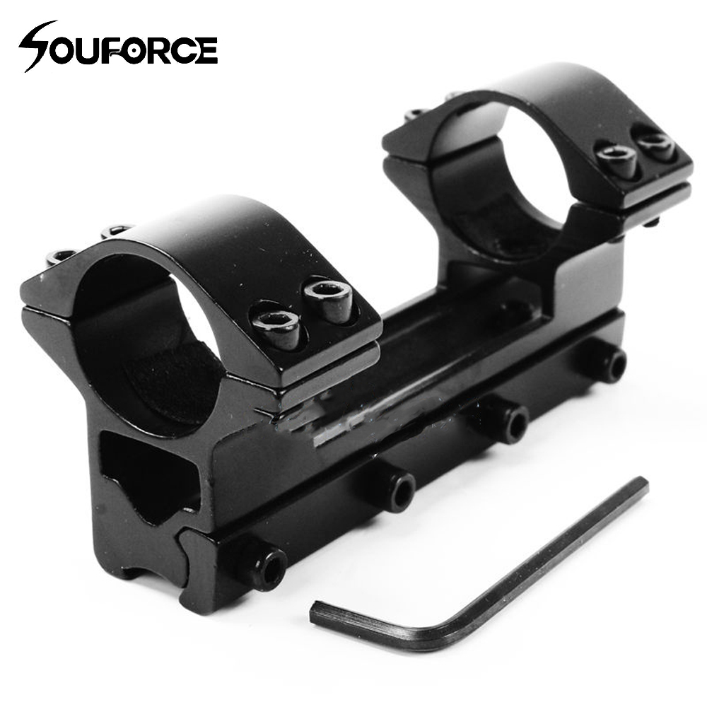 25.4 Mm Double Tube Scope 100mm Higher Mount For Dovetail 11mm Weaver Rail For Riflescope Hunting