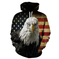 BIANYILONG 2018 New Fashion 3d Hoodies Men Women Sweatshirts 3d Print Eagle Thin Hooded Hoodies Cool
