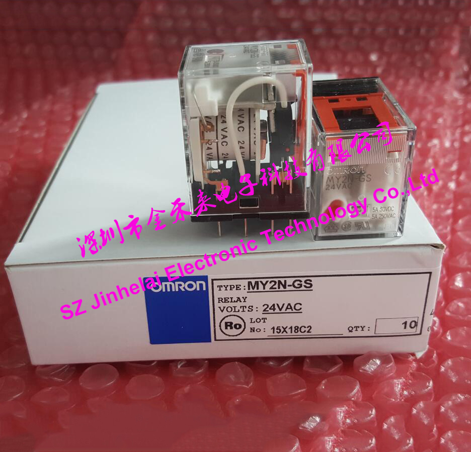 100%New and original OMRON MY2N-GS AC24V <font><b>RELAY</b></font> 2NO 2NC 8pin <font><b>24VAC</b></font> image
