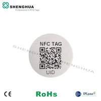 2000pcs Round 13.56mhz RFID NFC Tag Label Sticker Wet Inlay N tag213 With QR code URL UID Printing For Phone Control