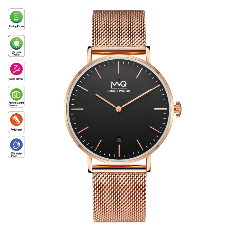 WQ Smart Watch Women Android Waterproof Rose Gold Slim ultra Thin Bluetooth Fitness Watch Lady wq