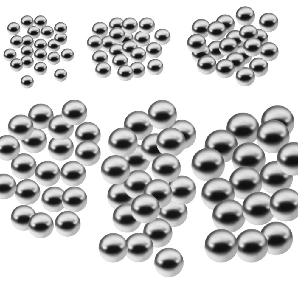 6 Size 100Pc 6mm Diameter Replacement Stainless Bicycle Wheel Steel Ball Bearing