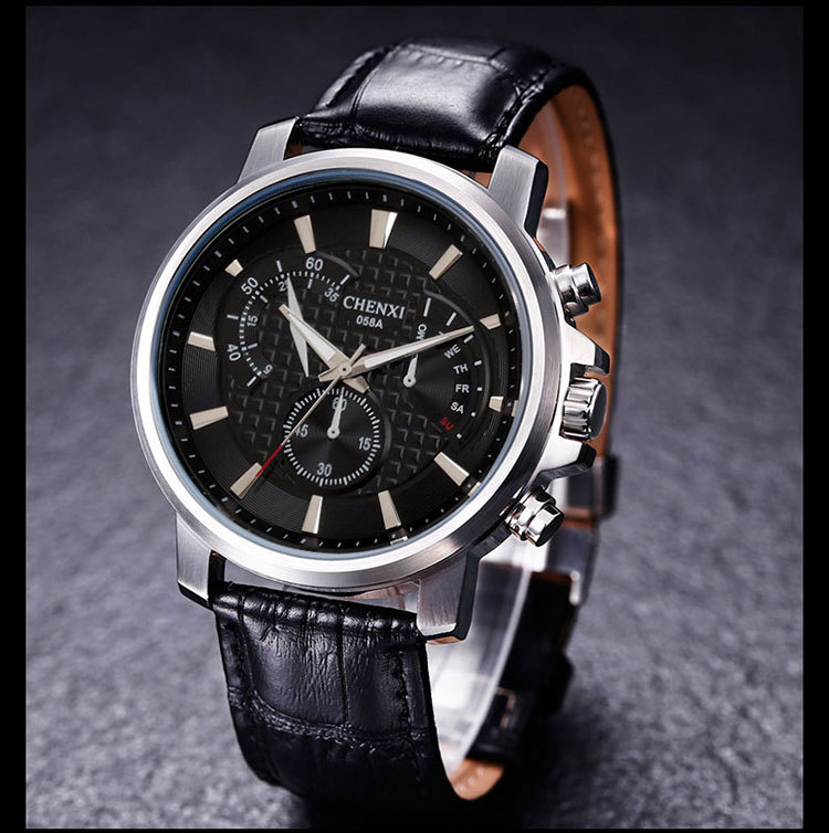 CHENXI Fashion Dress Business Watch Men Waterproof  Watches  Men's Simple Casual Quartz Analog Clock Male montre homme natate men new business clock fashion men watch full gold stainless steel quartz wrist watch chenxi waterproof watch 0140