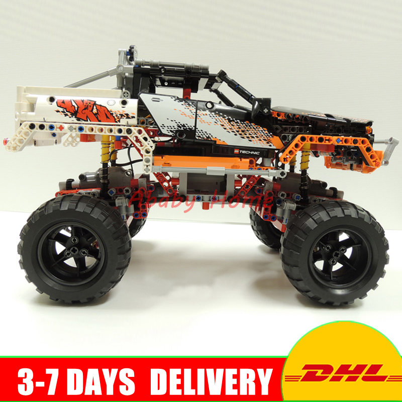 Lepin 20014 1386PCS Technic Series Ultimate Version The Remote-Control Four-Wheel Drive Off-road Vehicles Building Blocks Toys