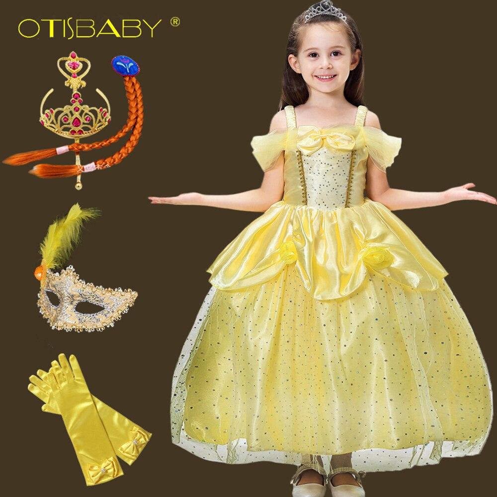 Deluxe Live Action belle ragazze Costume Disney Princess Bellezza Costume