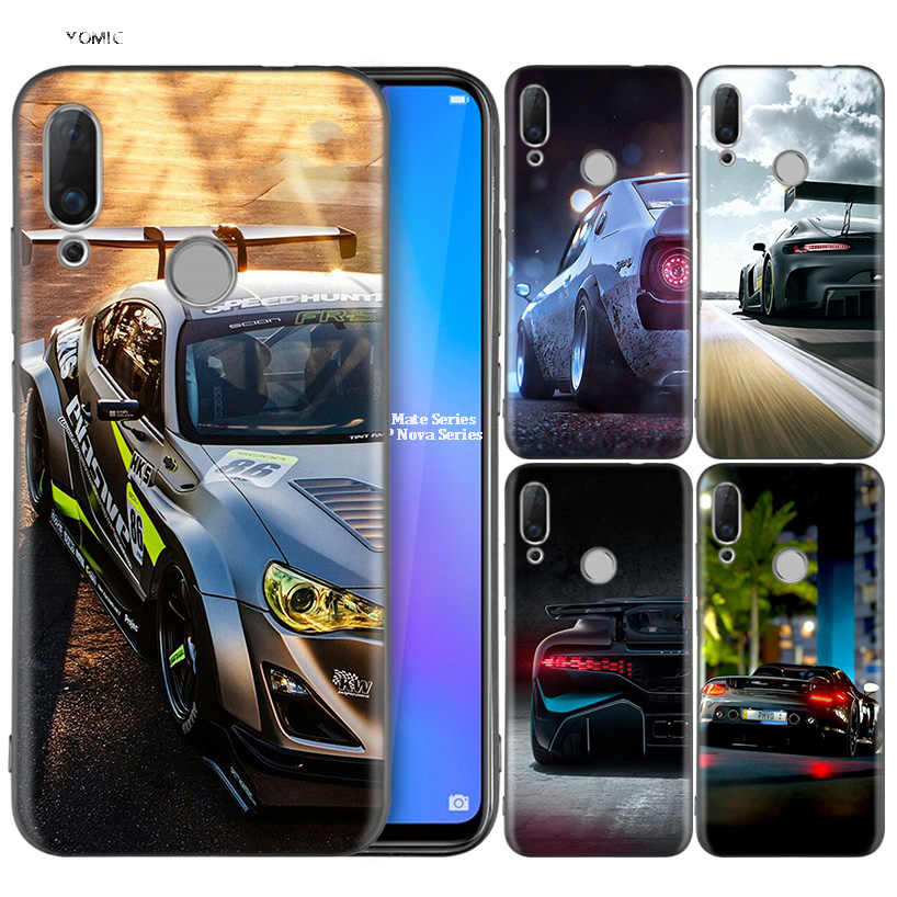 Silicone Coque Case for Huawei P30 P20 P10 P9 Mate 20 10 Lite Pro Nova 3i 4e 3E P Smart 2019 2018 Plus Classic Car Auto With Dar
