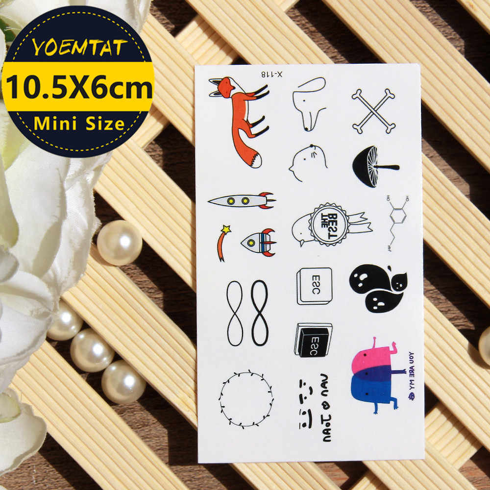 10.5*6cm Waterproof Temporary Tattoos stickers compass tattoo