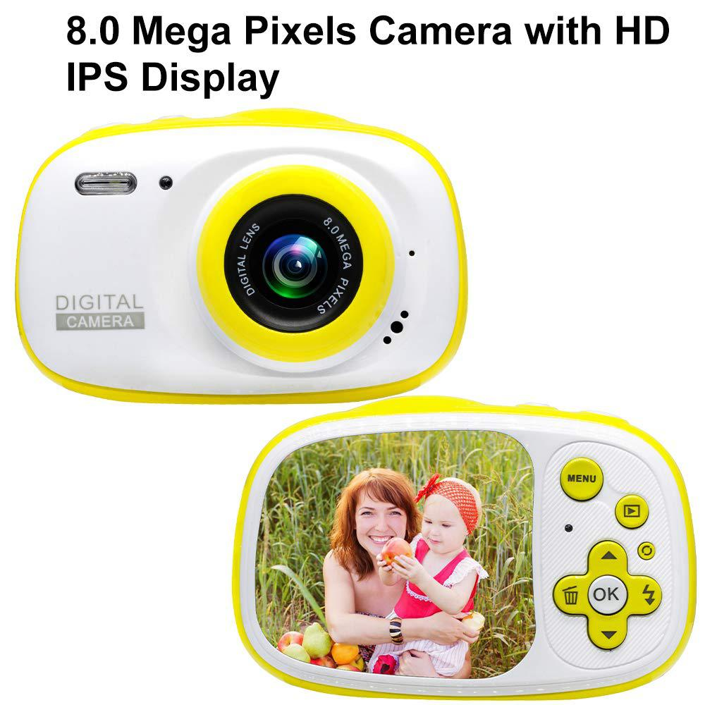 Kids Waterproof Digital Camera Mini Child Camcorder For Kids Support MP3, MP4 With 2.0 Inch HD IPS Screen Kids Electric Toys