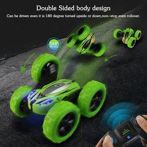 Image 5 - Dublör Rc araba, uzaktan kumanda araba, 360 derece çevirir çift taraflı döner yarış arabası, yüksek hızlı yanıp sönen uzaktan kumandalı