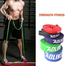 Stretch Band Men Women Natural Latex Elastic Resistance Loop Shoulder Arms Hip Legs Strength Training Accessories