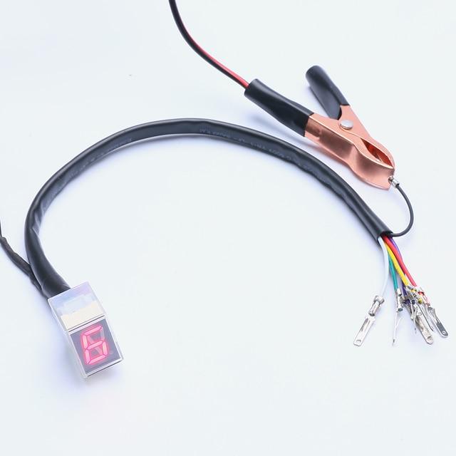 Rot Licht LED Universal Digital Getriebe Anzeige Display N-6 Motorrad Sensor Tacho Getriebe Display