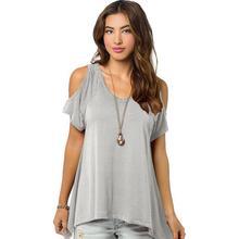 New leisure short-sleeved dress multicolor women of European and American wind dew shoulder fishtail skirt short sleeve T-shirt
