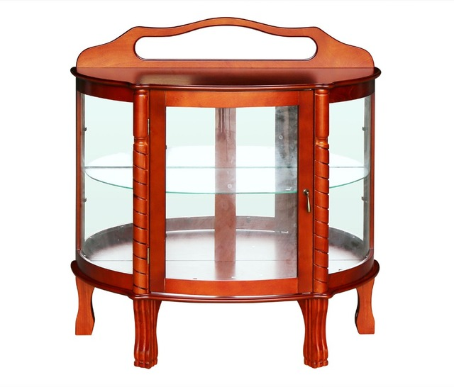 HLC Half Round Elegant Hardwood Curio Cabinet 36 By 15 By 38 Inch Brown  sc 1 st  AliExpress.com & HLC Half Round Elegant Hardwood Curio Cabinet 36 By 15 By 38 Inch ...