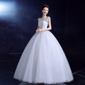 Image 3 - אופנה קלאסי רומנטי אדום חתונת שמלה מתוקה אורגנזה פניני Ruched חתונה שמלות יפה מסיבת כדור שמלה מותאם אישית