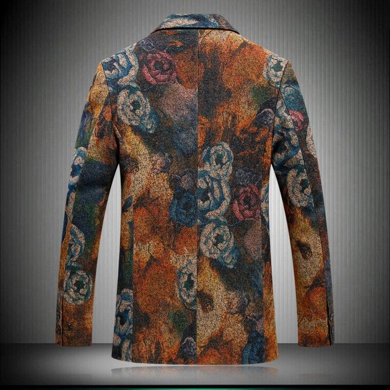2017 De Qualité Printemps Impression Costumes Style Multi Loisirs Nouveau Hommes Mode Flanelle Blazers Automne Vestes Haute rzxrAqE