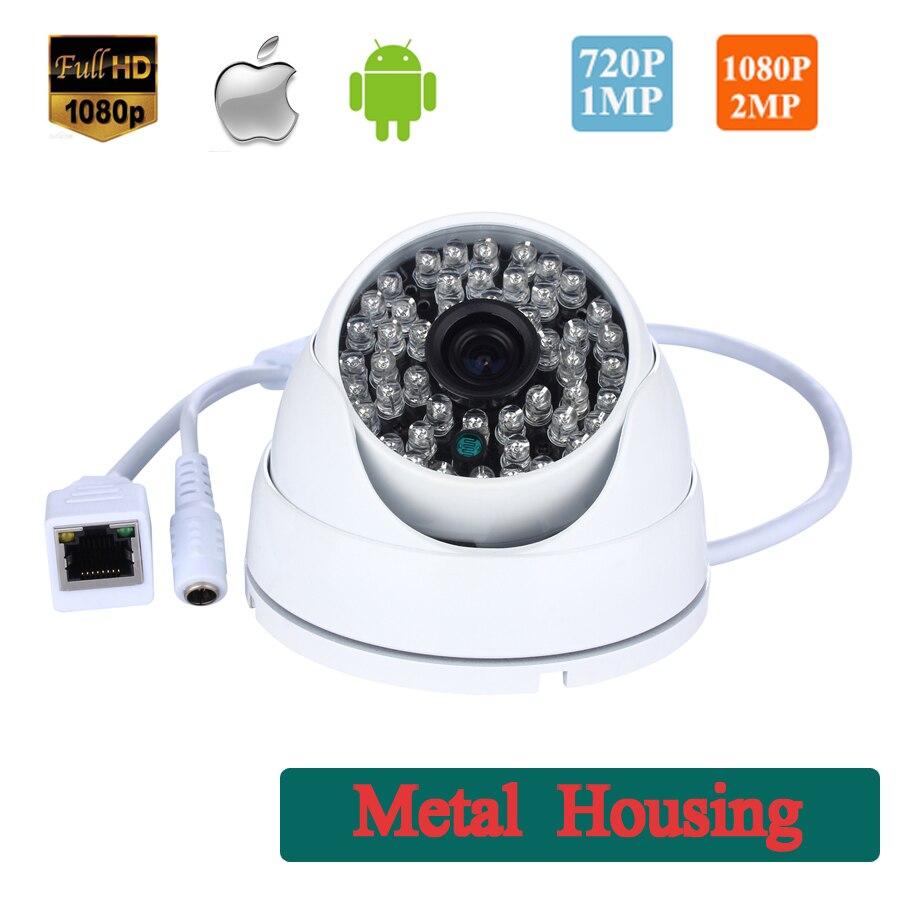 bilder für Metall Shell vandalensichere 720 P/1080 P Onvif 48 LED IR Dome Ip-kamera Innen/Außen Überwachungskamera