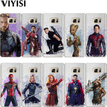 VIYISI For Samsung Galaxy J3 J5 J7 A5 A3 2017 2016 2015 For Prime S6 S7 Edge S8 S9 Plus Marvel Heroes Phone Case Coque Cover все цены