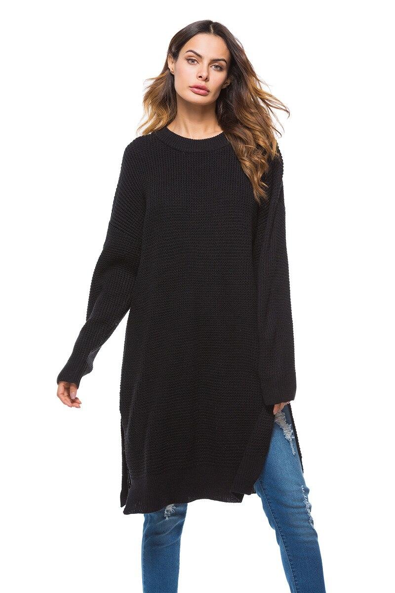 Fall Winter Vintage Mustard Side Slit Crochet Sweater Dress for Women Cute Ladies Retro Cosy Loose Split Pullover One Size 4