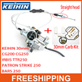 KEIHIN 30mm PZ30 IRBIS TTR250 motorcycle dirt bike atv accelerating Pump Carburetor + Visiable Twister + Dual Cable + Repair Kit
