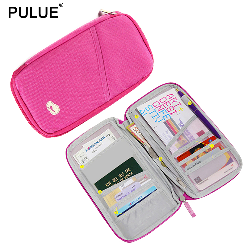 New Travel Passport Wallet Passport Holder Multi-Function Ticket Credit Card Package ID Document Multi-Card Storage Pack Clutch