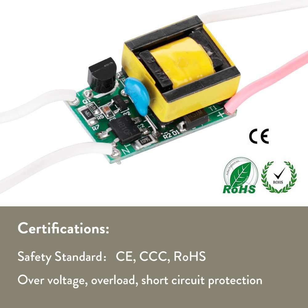 Sterownik LED 300mA 280mA 3 W 4 W 5 W 7 W dla diod LED zasilacz AC90-265V transformatory oświetleniowe do DIY LED moc światła