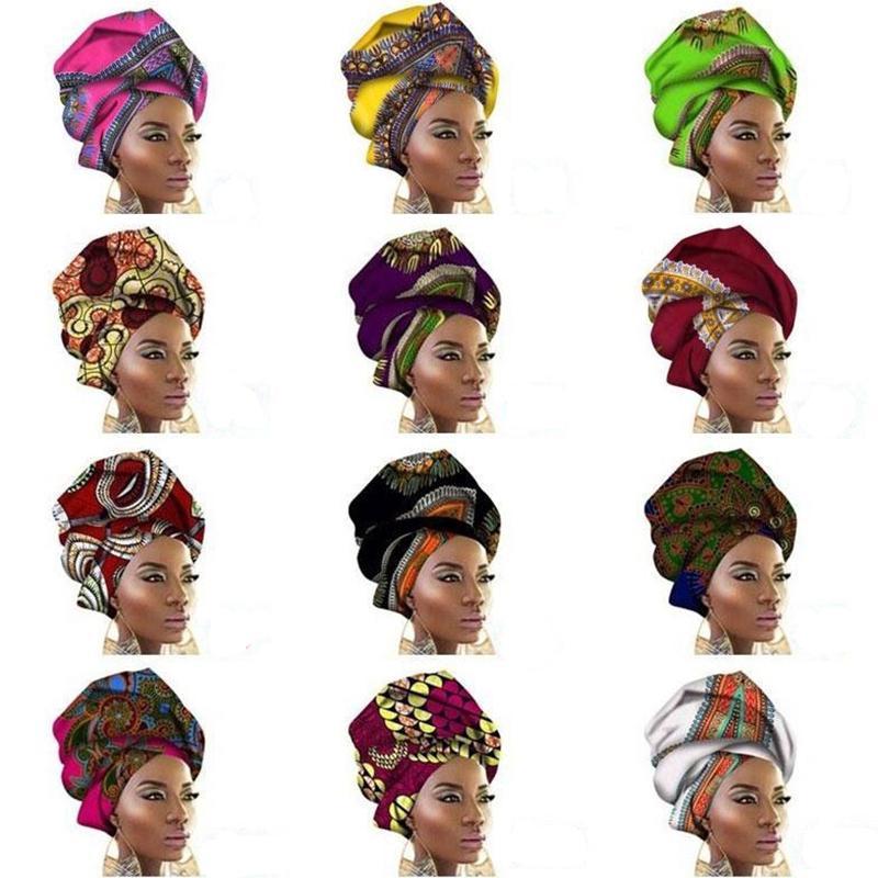 African Wax Print Ankara Head   Wrap     Scarf   Head Tie Cotton Turban