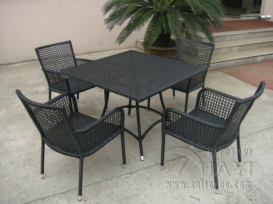 5 pcs Rattan Garden Dining Sets , Wicker Outdoor Furniture Dining Sets transport by sea корзинка для хранения garden rattan