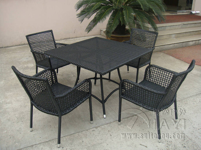 5 pcs Rattan Garden Dining Sets , Wicker Outdoor Furniture Dining Sets transport by sea