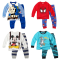cartoon Thomas boys clothing sets  kids clothes pajamas baby knitted printed pyjama sets toddler clothes suits baby clothes 2pcs