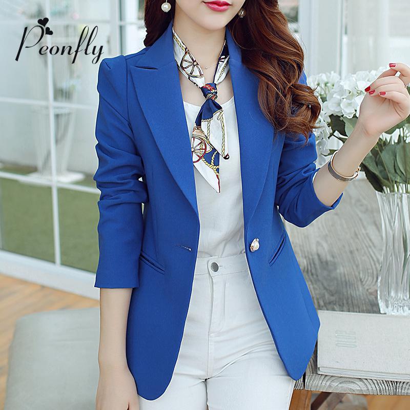0c75d5572570 Fashion Ladies Blazers 2016 Summer Suit Blazers Women Jacket Plus Size S-XXL  Blaser Female Single Button Blazer Femme