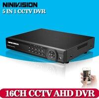 CCTV DVR 16Ch Digital Video Recorder AHD 16 Channel H 264 Hybrid Home Security DVR 1080P