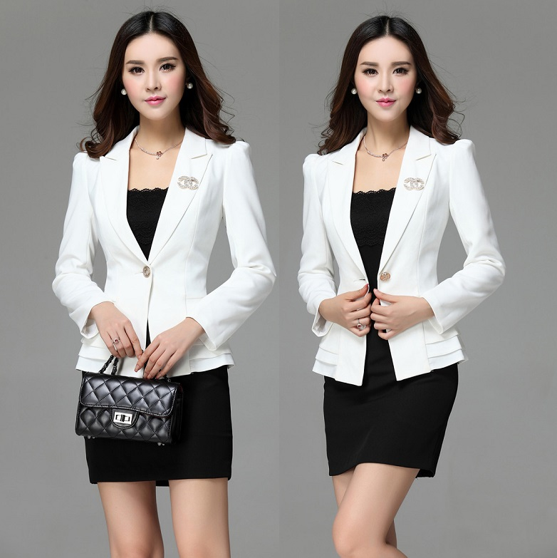 4f6a593827305 New Fashion Slim Blazers Feminino Formal Uniforms Office Ladies Work Wear  Suits Blazer And Skirt For Business Women Outfits Set en Trajes de falda de  La ...