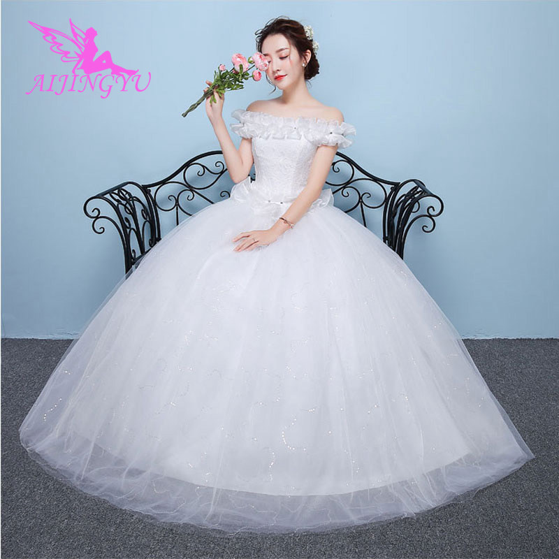 AIJINGYU 2018 free shipping new hot selling cheap ball gown lace up back formal bride dresses wedding dress for sale WU111