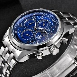BENYAR Top marque de luxe hommes en acier complet Quartz chronographe hommes Sports de plein air militaire étanche montre 24 heures affichage horloge