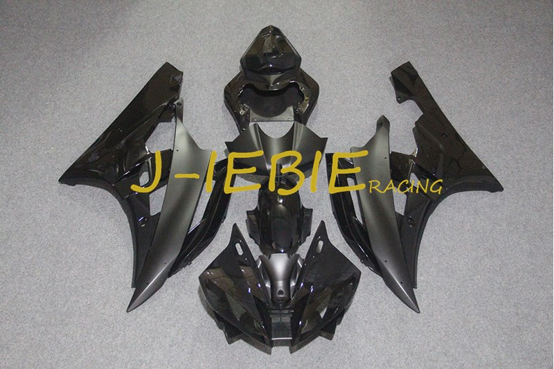 Black Injection Fairing Body Work Frame Kit for Yamaha YZF 600 R6 2006-2007