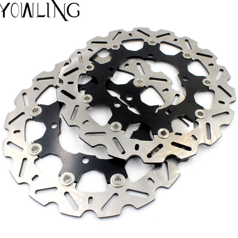 YOWLING motorcycle Parts Accessories Front Floating Brake Discs Rotor for SUZUKI GSR400 GSR600 GSR 400 600 GSR-400 GSR-600 starpad for lifan motorcycle lf150 10s kpr150 new front brake discs accessories