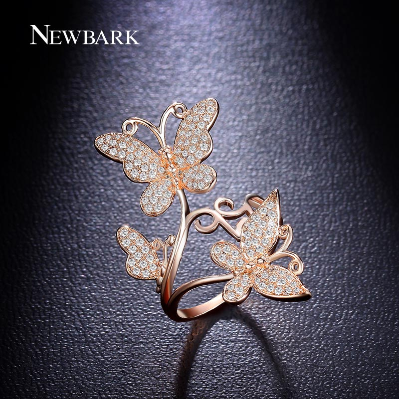Aliexpresscom Buy NEWBARK Elegance Lovely Butterfly Finger Ring
