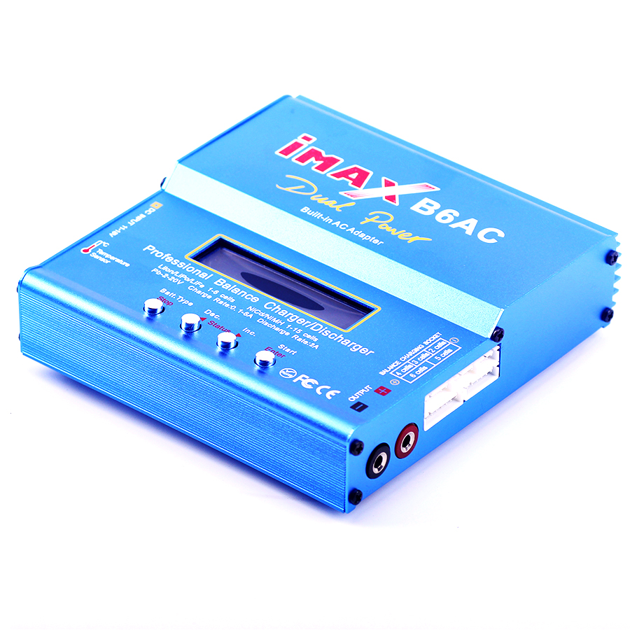 IMAX B6AC 80 Watt Lipo Nimh Ni-CdRC Akku Balance Digital Ladegerät Entlader Für RC Hubschrauber Lcd-bildschirm Eu-stecker