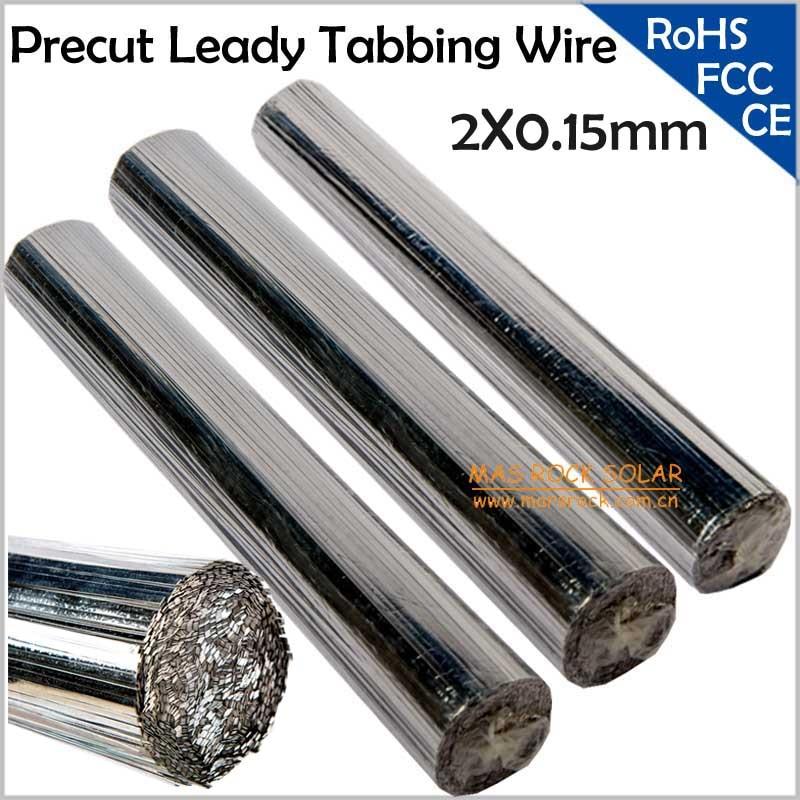 Leady солнечные элементы PV лента 2X0,15 ММ, предварительно вырезанные солнечные проводки, подходит для 125 или 156 солнечного модуля, PV ленточный провод
