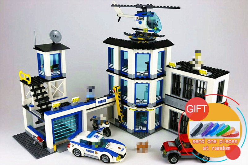 02020 965Pcs City Series The New Police Station Set Children Educational Building Blocks Bricks Compatible with 60141 toys lepin city series police car motorcycle building blocks policeman models toys for children boy gifts compatible with legoeinglys 26014