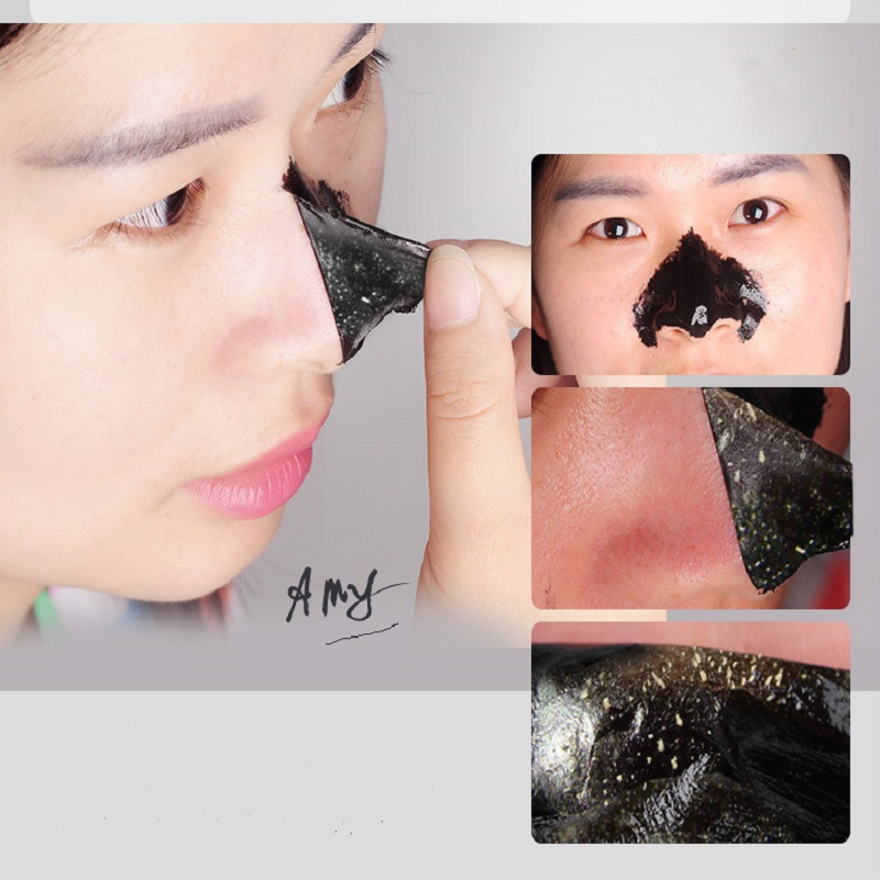 100pcs/lot PILATEN Black Mask Acne Blackhead Mask Peel Off Black Head Remover Face Mask Beauty Deep Cleansing Skin Care 17
